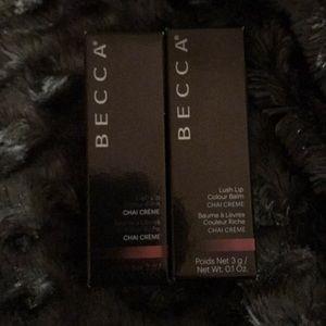 Becca Bundle Lush Lip Color Balm in chai creme